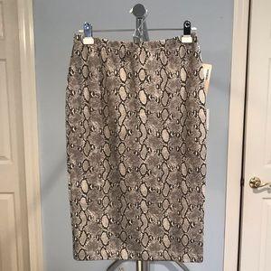 NWT Michael Kors Snakeskin Skirt
